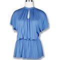 azul de moda las mujeres blusa de algodón al por mayor de las importaciones de china al por mayor de ropa de trabajo