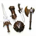 espadas medievales juguetes de plástico para los jóvenes