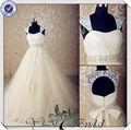 jj3560 destacável e alças do vestido de casamento fechadura traseira de cor champanhe rendas vintage vestidos de noiva