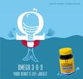 Omega 3 6 9. 1000mg. 30 Perlas de gelatina - Suplemento alimenticio