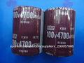 Absolutamente original 4700UF 100V Condensador electrolítico de aluminio