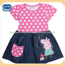 ( h4725) nova kids niña bonita peppa pig vestido de princesa vestidos de verano para los niños