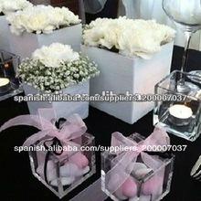 venta caliente promocional de acrílico caja de regalo de boda favor