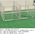 Jaulas cuadradas de alambre de acero soldadas pinzas conectadas a juego del perro al aire libre
