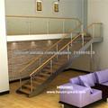 Escalera de madera moderna de la pisada