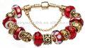 conjunto europeo estilo Pandora plata encanto pulseras de perlas de joyería