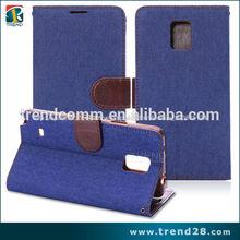 jeans en cartera Bolivia cubierta del teléfono móvil para Samsung nota 4