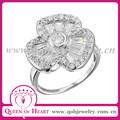 joyas en plata flor anillo con circones