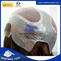 NTW6: Base de peluca mono fina con frontal de encaje francés y perímetro de la base de piel delgada.