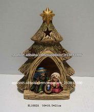 Belén de cerámica para decoración de Navidad