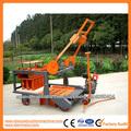 Máquina para hacer bloques móvil con motor diesel