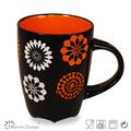 round ceramic cheap color glaze stoneware mugs