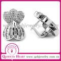aretes de plata corona corazón aretes 925 plata con circones