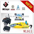 Wl juguetes nuevo 2.4g 2 canales de radio control rc barco de la velocidad para la venta