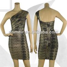 vestido de noche del vendaje de moda con lentejuelas vestido de fiesta