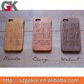 Casos solicitados para telefono de madera + bambú del teléfono móvil para iphone5s