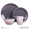 stoneware 16pcs color glaze ceramic dinner set