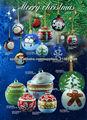 Cerámica balón colgado para la decoración del árbol de Navidad