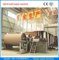 2400mm 30 tonnes / jour de déchets gamme complète de carton de papier de recyclage de papier kraft jumbo rouleau machines de fab