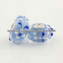 hechos a mano de plata esterlina 925 joyas de cristal de murano perla