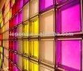 vidrio de ladrillos de colores