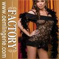 Black heart modelo mujeres ropa interior con chal