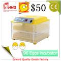 Venta caliente completa Incubadora automática precios huevos de pollo 96