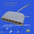 12-24V LED distribuidor 6way 6pole 6fold para sistema de conexión de iluminación de muebles (L806-6W)