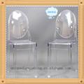 Transparente resina silla comedor fantasma