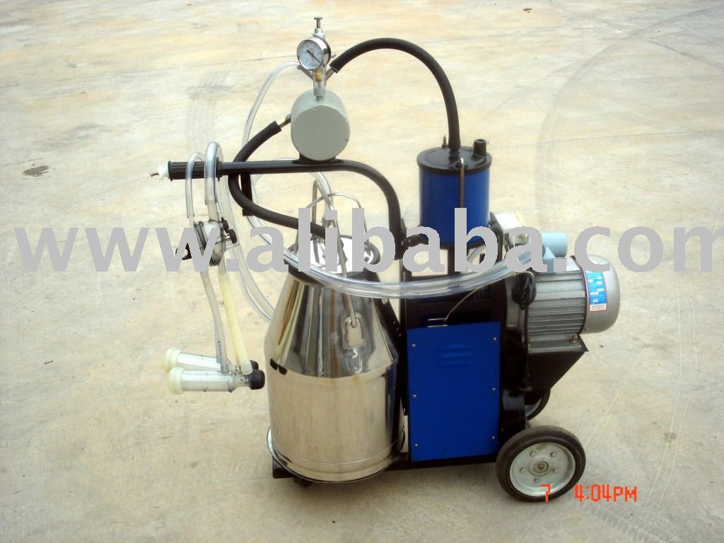 Vacuum Pump Mobile Goat Milking Machine,