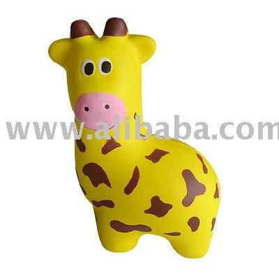 PU giraffe / PU stress giraffe. Material: PU stress. Size: 6. 5*10. 2*4. 7cm