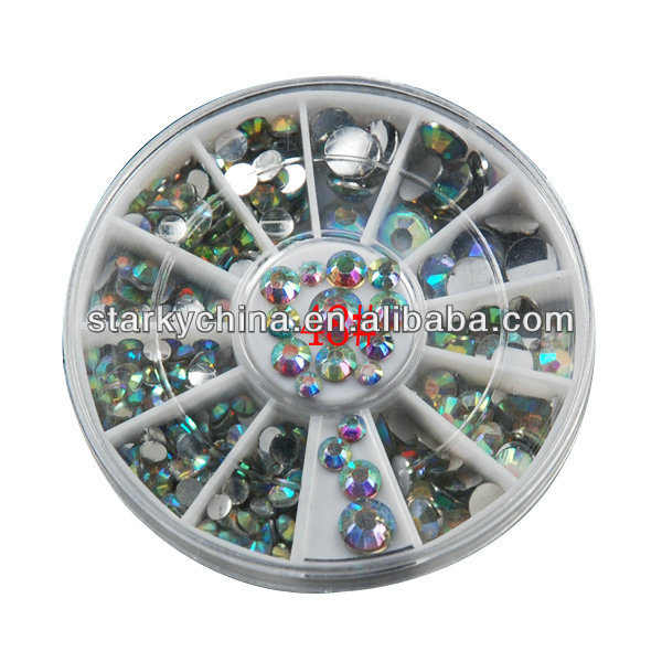 ... colorful glitter stone in wheel nail decoration nail tip nail art