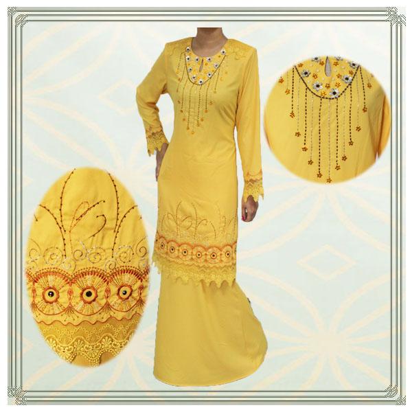 embroidered and beaded 2013 design baju kurung 2013 design baju kurung
