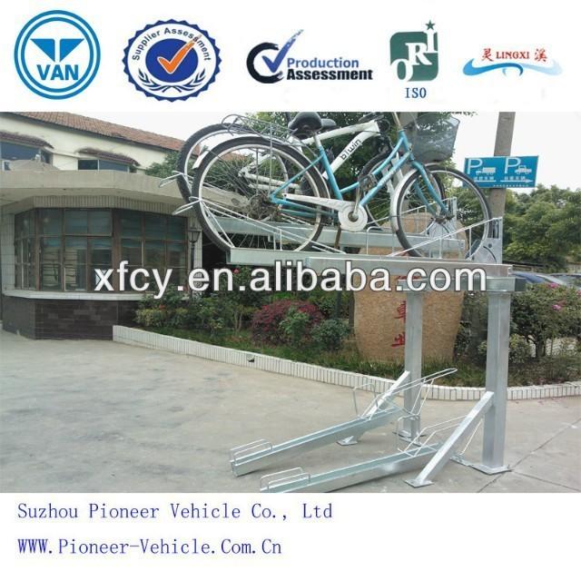 Tier bike parking stand double decker bike rack stackable bike rack
