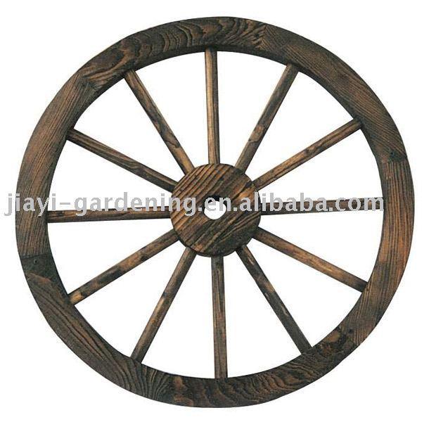 Wood wheel ,cart wheel ,for outdoor use