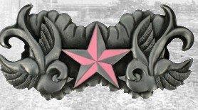 Birds & Stars - Pink buckle
