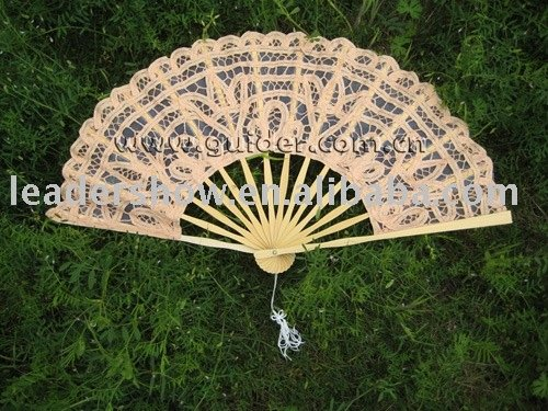 Lace cotton fans