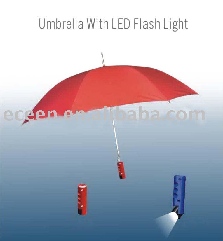 Umbrella with LED Flashlight - Convenient Gadgets  Gifts. Unique