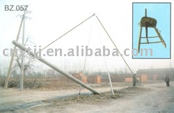 Aluminum ZIG-ZAG erecting pole machine,u