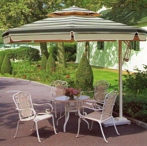 Glass Top Umbrella Patio Table - Home  Garden - Compare Prices