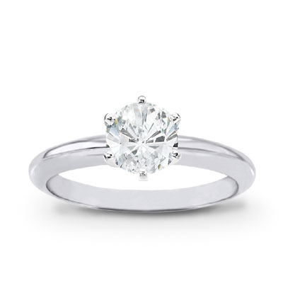 1.00 ct Round Brilliant Diamond Platinum