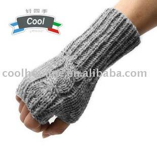 fashion pattern and long cuff gloves