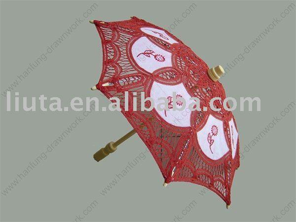 lace parasol,cotton parasol,red parasol