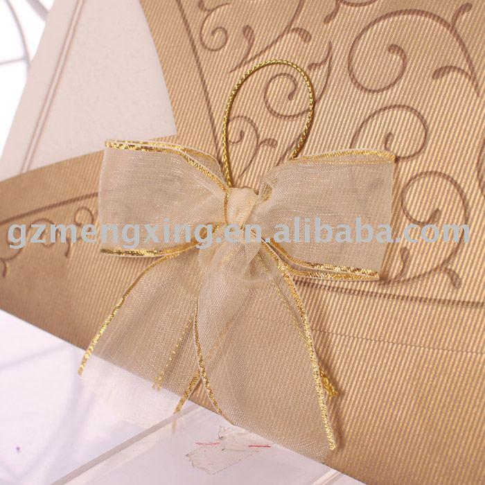 gold wedding cards HW060
