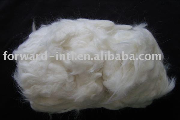 dehaired sheep wool