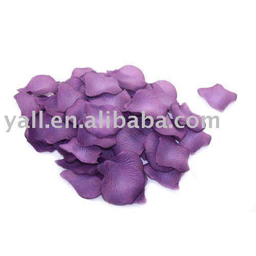 600pc Dark Purple Silk Rose Petals Wedding Flowers Silk rose petals