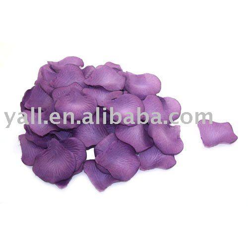 600pc Silk Rose Petals Wedding Flowers Dark Purple Silk rose petals