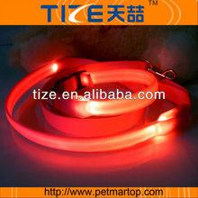 Light-colored LED flashing dog leashTZ-PET5111R light up dog leash