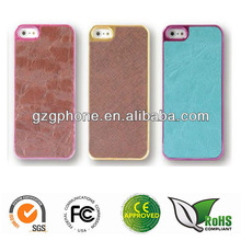 PC phone case for iphone 5 with eletraplate and sticker