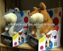 2013 pouplar talking hamsters Plush toys